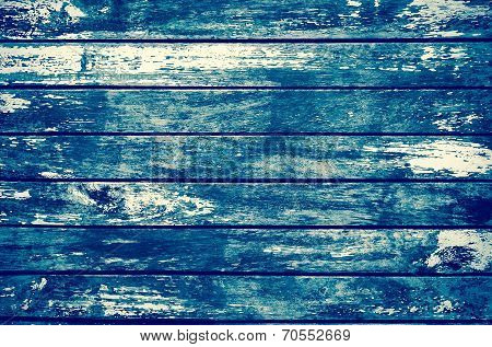 Decrepit Grunge Blue Old Wood Background