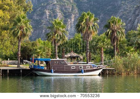 Boat In Dalyan River