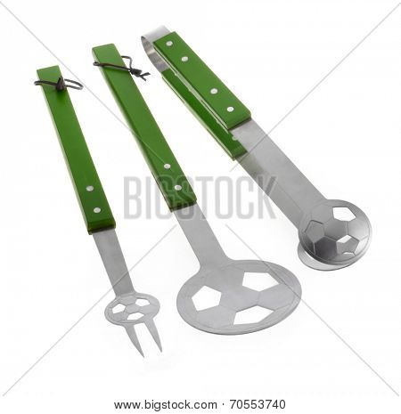 Barbecue tools (tongs, carving fork, spatula)