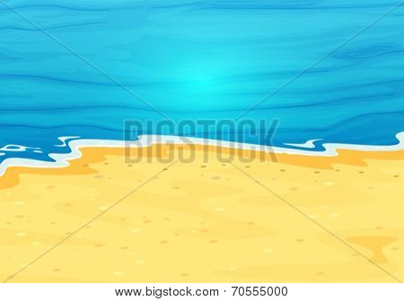 Illustration of a beautiful view of the beach