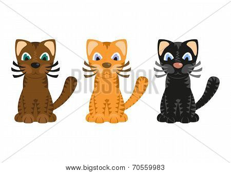 Cartoon tiger cats