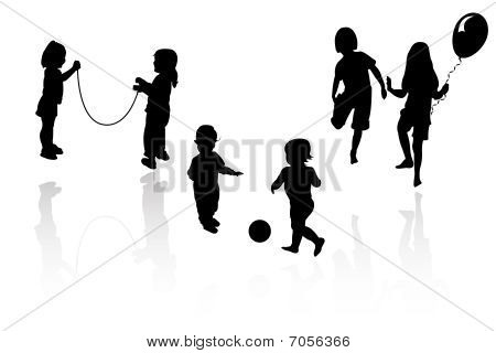 Silhouettes - children