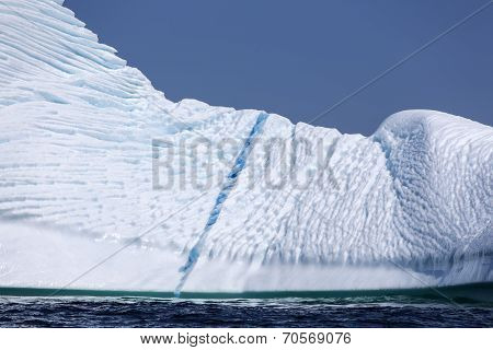 blue streak in St. Anthony iceberg