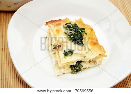 Spinach Lasagna With A Delicious Cream Sauce