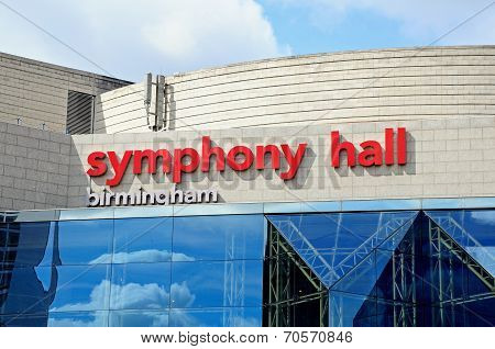 Sumphony Hall, Birmingham.