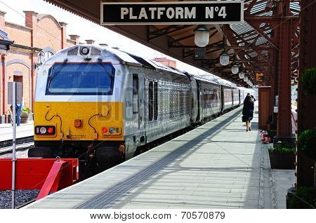 Class 67 loco in Moor Street Station.