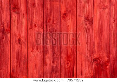 Empty And Nobody Red Wooden Background.
