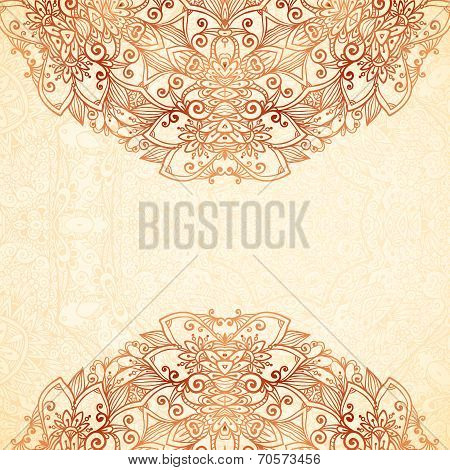 Ornate vintage background in mehndi style