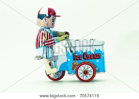 old tin toy ice cream boy