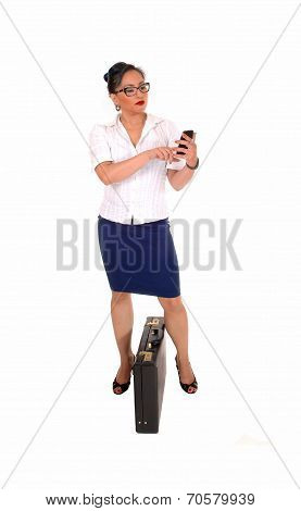 Business Women Dialling.