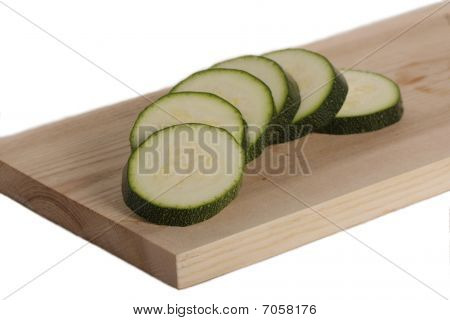 Sliced Courgette On The Plate