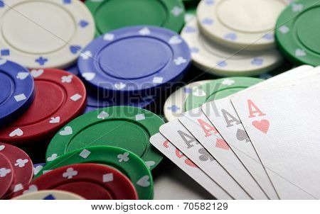 Four Aces Casino   Chips