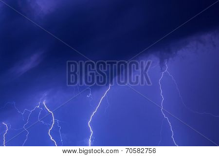 Summer thunderstorm at night