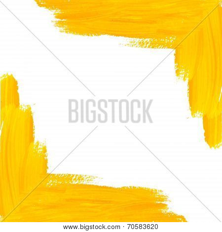 Yellow Vector Brush Strokes Corner