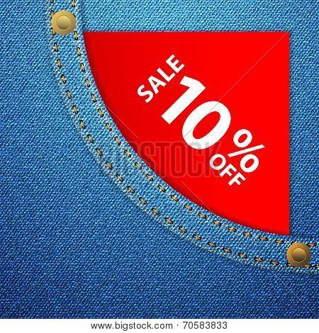 Denim Pocket And Sale Ten Off