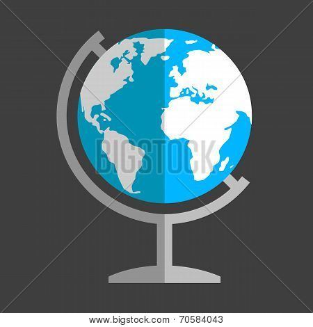 Earth globe flat icon