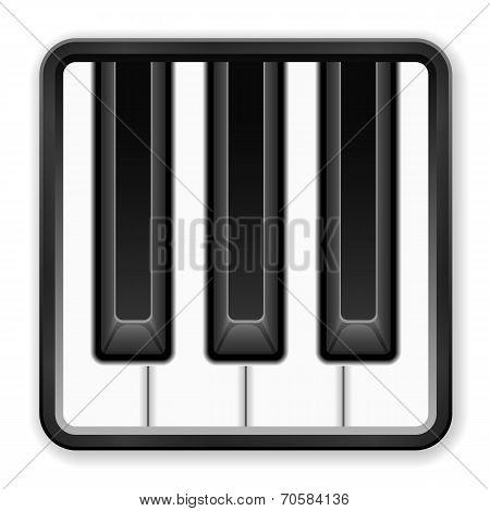 Piano Music Icon