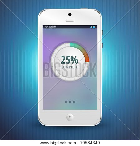 Download Process Indicator On The Screen Of Smartphone