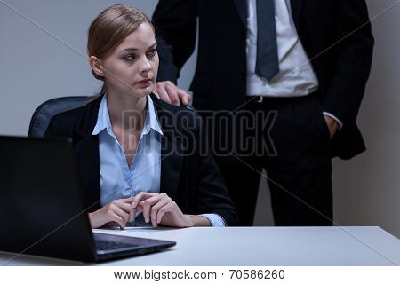 Scared Woman And Self-confident Boss