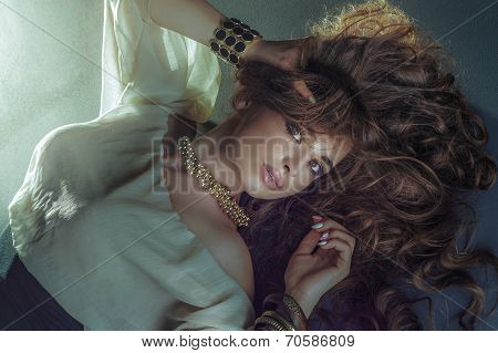 Beauty Photo Of Blonde Lady In Jewelry