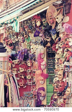 Mask Shopping In Venice (italy) Nostalgia Effect.