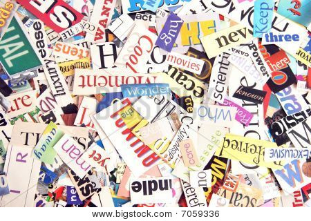 Magazine Word Background