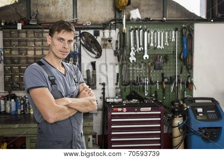Mechanic at the garage