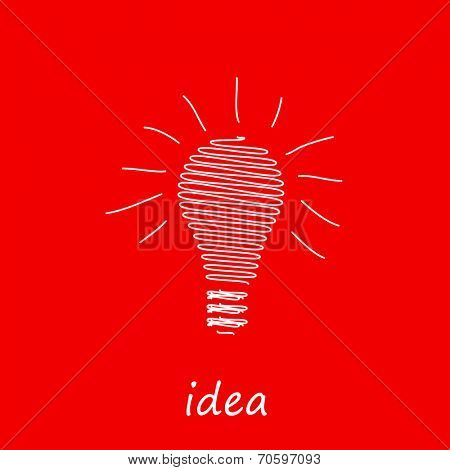 Vector light bulb icon, easy editable