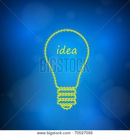 Light bulb icon, easy editable