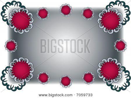 Red Grey Fancy Frame Background