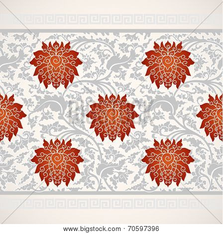 Chinese oriental floral ornament