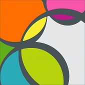 stock photo of octagon shape  - Colourfull Abstract Geometric Background Vector Illustration - JPG
