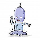 pic of spaceman  - cartoon alien spaceman - JPG