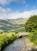 foto of dungeon  - Mickleden Beck river Langdale Valley Lake District by Old Dungeon Ghyll The Lakes Cumbria England United Kingdom UK by campsite - JPG