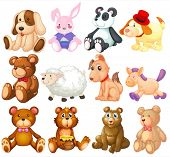 picture of stuffed animals  - Illustration of many stuffed animals - JPG