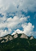 stock photo of pieniny  - Three Crowns in Pieniny mountains on the polish - JPG