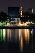 foto of frankfurt am main  - View of Frankfurt am Main by night - JPG