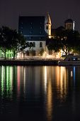 image of frankfurt am main  - View of Frankfurt am Main by night - JPG