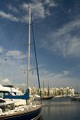 pic of piraeus  - Sail boat in Marina Zea Piraeus Greece - JPG