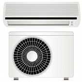 stock photo of air conditioning  - Illustration of an air conditioner vector - JPG