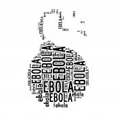 foto of time-bomb  - Time bomb ebola word cloud isolated on white - JPG