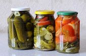 stock photo of marinade  - House canned food - JPG