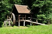 pic of sibiu  - sibiu romania ethno museum wood water mill - JPG