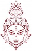 stock photo of durga  - Hindu Goddess Durga - JPG