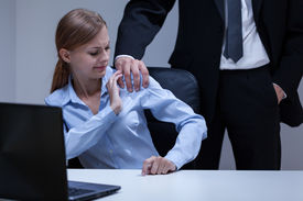 image of inappropriate  - View of sexual harassment in the office - JPG