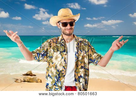 Tourist On The Beach