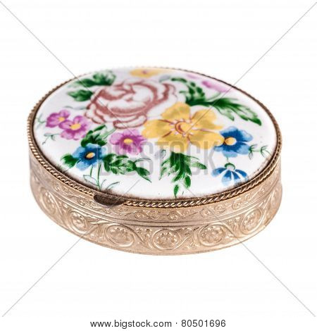Decorated Pill Box