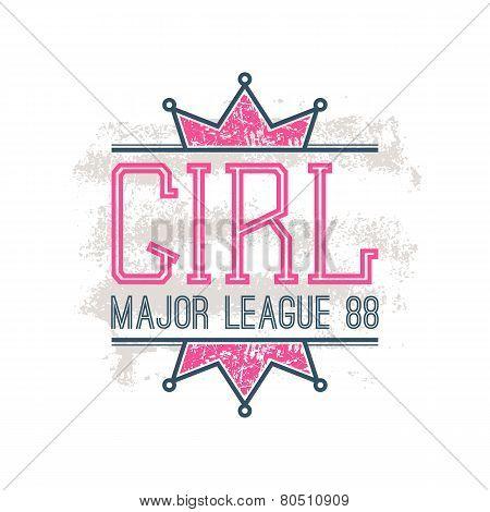 Girl Sport Emblem