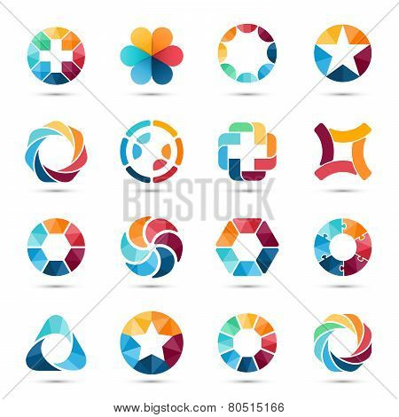 Logo set. Circle signs and symbols.