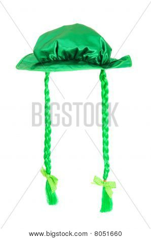 St Patrick Day Concept With Green Hat On White